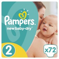 Pampers №2 Active Baby Mini 68/72 шт 3-6 кг