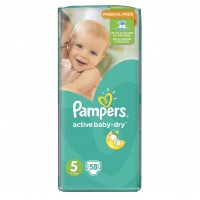 Pampers №5 Active Baby Junior 58 шт 11-18 кг