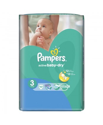 Pampers №3 Active Baby Midi  10 шт 4-9 кг.