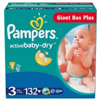 Pampers №3 Active Baby Midi 132 шт 4-9 кг