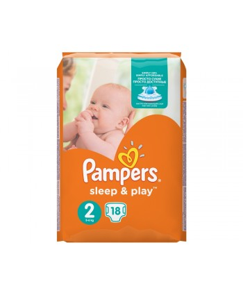 Pampers Sleep & Play №2 Mini 18 шт 3-6 кг