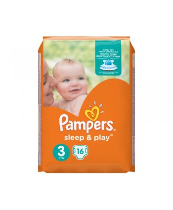 Pampers Sleep & Play №3 Midi 16 шт 4-9 кг