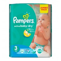 Pampers №3 Active Baby Midi 82 шт 4-9 кг.